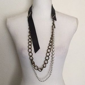 Lanvin X H&M Pearl Chain Necklace Belt